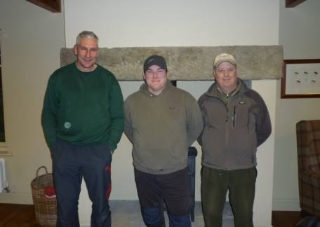 The qualifiers in the Fritz 'n' Flies singles competition at Thrunton were l-r Rob Hall, Malcolm Robinson and Brian Davis